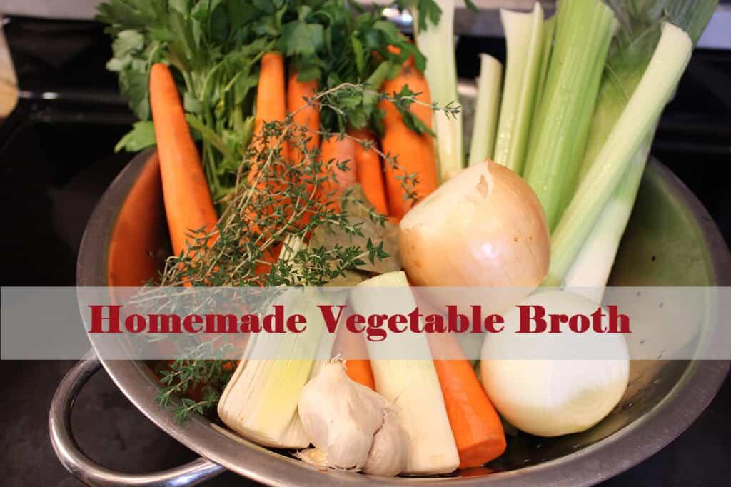 strainer filled with vegetables