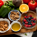 picture of foods that promote Anti-Inflammatory-Lifestyle nuts, fruits